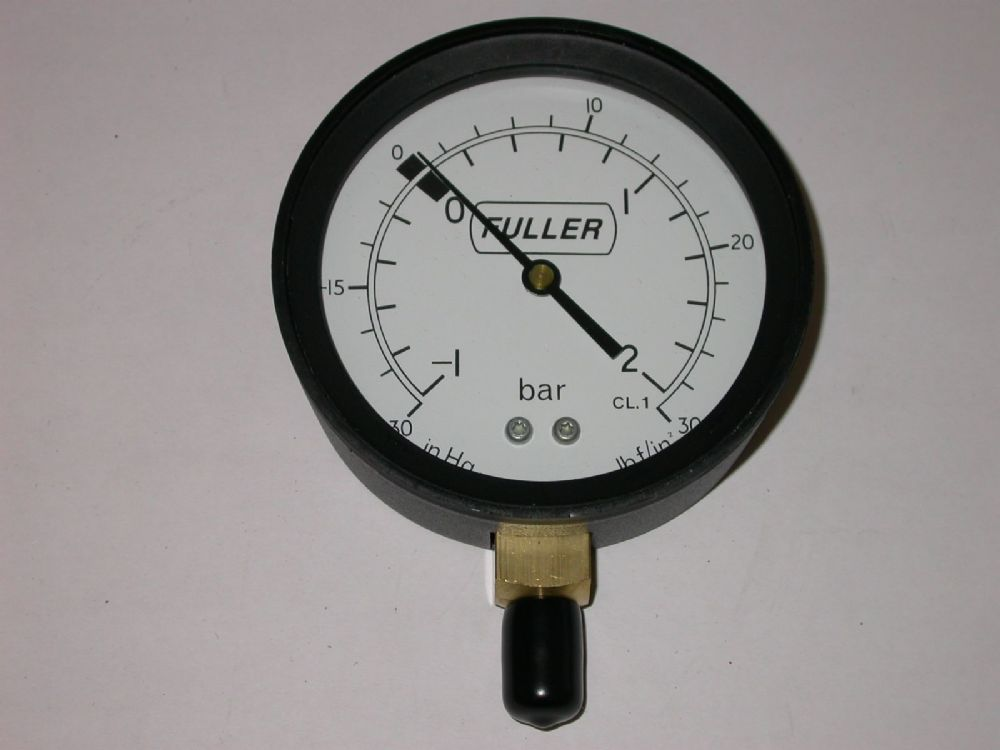 High Pressure Vacuum Gauge : Mm dia bottom mounted vacuum pressure gauge
